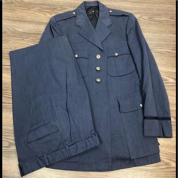 Lauterstein's Other - 1950s Korean War USAF Air Force Blue Suit 38L
